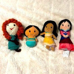 Disney Princess Mini Plush Set Brave Aladdin Mulan